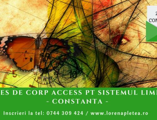 Proces de Corp Access pentru Sistemul Limfatic | 09 iunie 2018